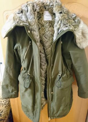 Парка зимняя куртка mango