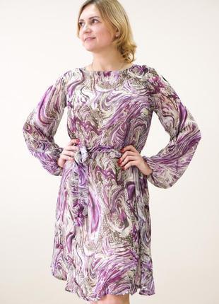 Нежное шифоновое платье свободного кроя 🌸