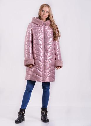 Удлиненная женская куртка 18-80
