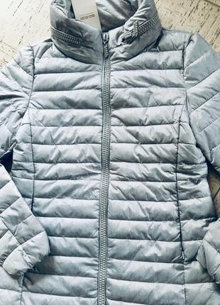 Куртка демисезонная синтепон стеганная с камушками камнями