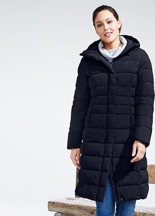 Теплое зимнее стеганое пальто snow tech от tcm tchibo, германия