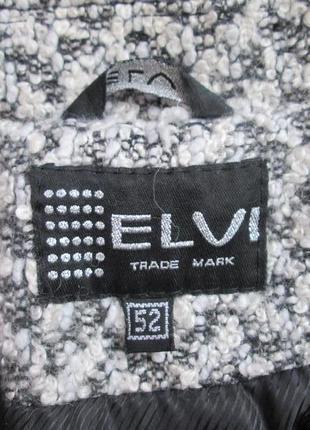 Демисезонное пальто elvi из шерсти букле4 фото