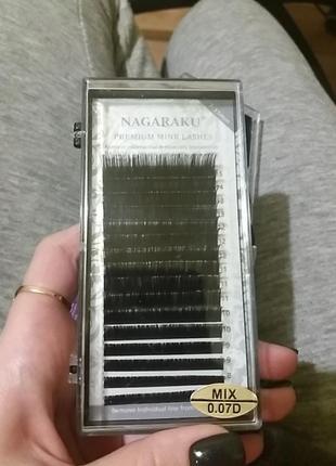 Nagaraku mix 0.07d ресницы для наращивания