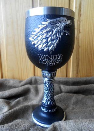 Бокал для вина волк