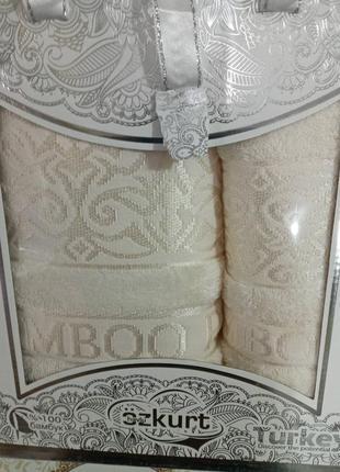 Набор бамбуковых полотенец ozkurt (турция) баня + лицо