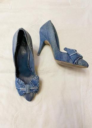 Туфли джинсовые bershka