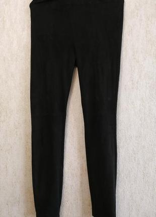 Замшевые брюки бренда zara