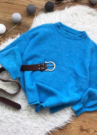 Розкішний мягенький лазурний светрик, шерсть/альпака