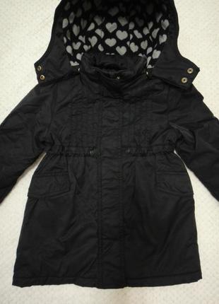 Стильная модная деми куртка парка h&m р. 104-110 (4-5 лет)