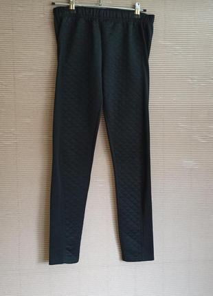 Легенсы черные брюки м стеганные  леггинсы лосины чорні штани