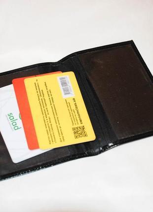 Кожанная обложка под права, документы, органайзер для документов карточек.