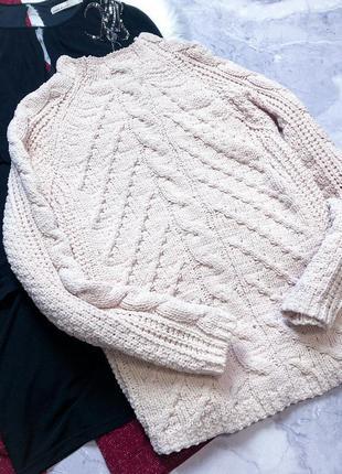 Крутой велюровый свитер крупной вязки marks & spencer