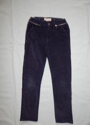 Zara kids джинсы велюровые стильные модные на девочку 9 лет рост 134 см
