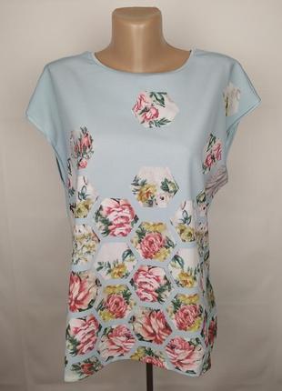 Блуза новая модная в принт оригинал ted baker uk 12/40/m