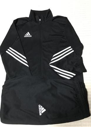 Мужской спортивный костюм adidas climalite штаны + кофта размер l