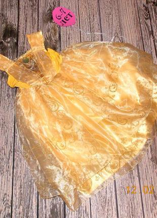 Новогоднее платье disney для девочки 6-7 лет, 116-122 см