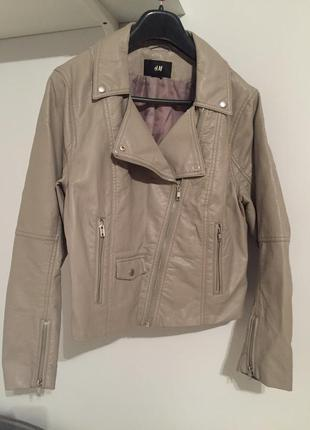 Куртка кожзам h&m
