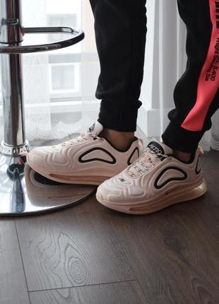 Женские кроссовки розовые nike air max 720