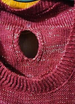Праздничный вязаный свитер для красивой девушки3 фото
