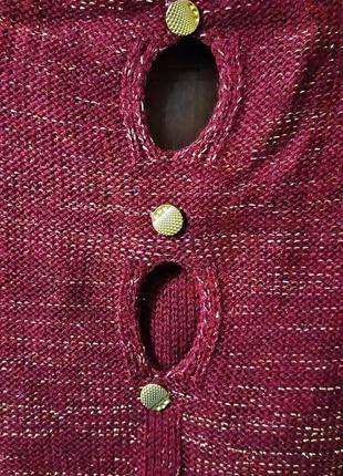 Праздничный вязаный свитер для красивой девушки4 фото