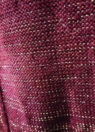 Праздничный вязаный свитер для красивой девушки5 фото