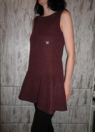 Стильное мягкое платье с заниженной талией uniqlo размер s