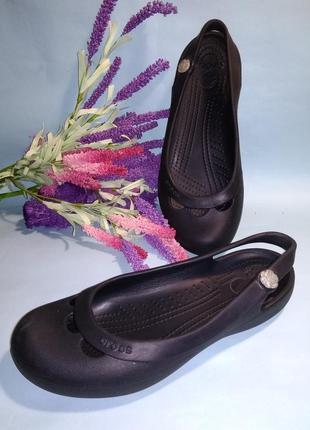 Балетки туфли кроксы crocs women's jayna slingback flat размер 8 38-39