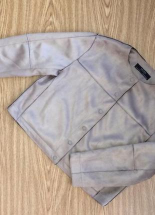 Zara замшевая курточка жакет пиджак кардиган накидка кофта