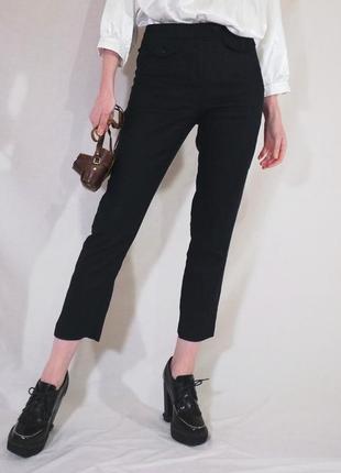 Узкие брюки из натурального льна (льняные брюки сигареты)