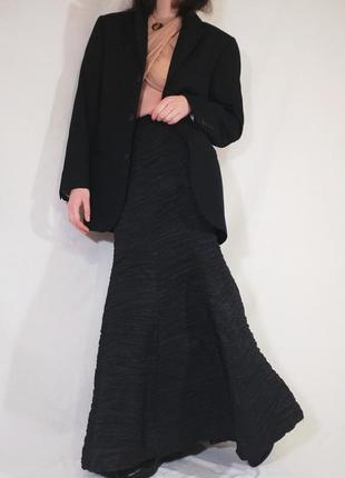 Шерстяной удлиненный винтажный пиджак giorgio armani (ретро, винтаж)