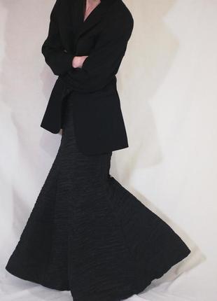 Восхитительная винтажная вечерняя макси юбка годе (рыбка)