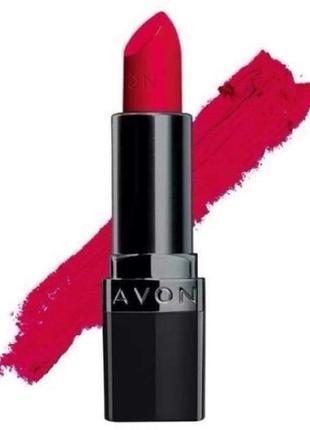 Розпродаж матова помада avon ейвон эйвон ruby kiss - рубіновий поцілунок суперціна