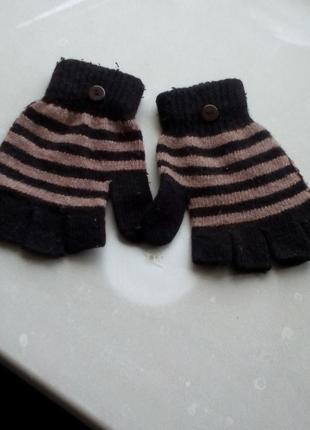 Женские/шерстяные / вязаные ми́тенки/перчатки без пальчиков