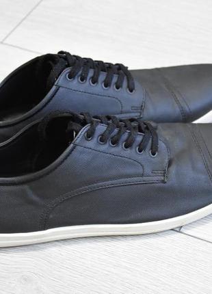 Мужские черные туфли zara man оригинал 44 р кеды кроссовки зара мен