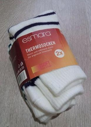 Термо носки зимние с тормозами esmara германия. р.39/42