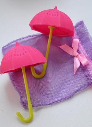 Заварник для чая - малиновый зонт ситечко для чая сито зонтик