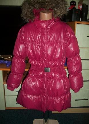 Сочный пуховик пальто на 8-9 лет benetton бенеттон