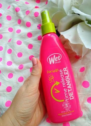 Спрей для легкого расчесывания wet brush от запутанных волос вьющихся блеск кератин