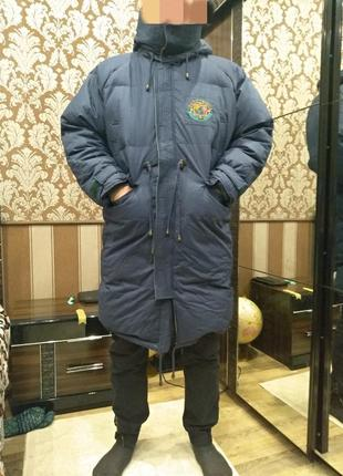 Распродажа!!! актуальный двухсторонний удлиненный пуховик парка куртка зимняя дутик новый