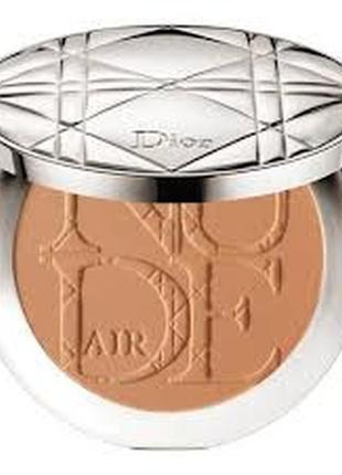 Солнечная пудра для естественного сияния dior diorskin nude air tan 025 matte amber