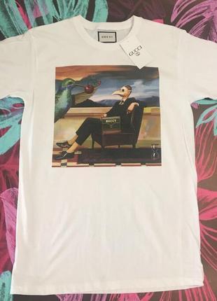 Gucci футболка белая• футболка гуччи белая• ориг бирки• топ качество