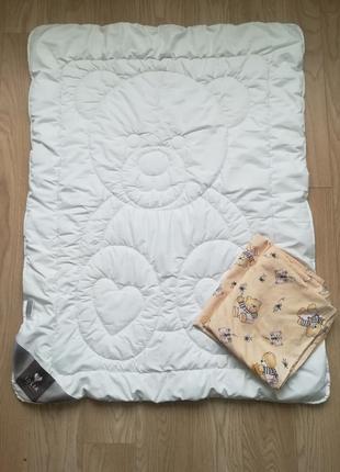 Детское одеяло с постельным бельем, в манеж