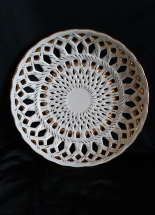 Блюдо фарфоровое винтажное ваза ссср