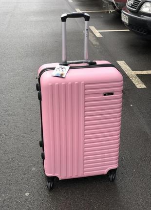 Супер цена! пластиковый большой чемодан валіза велика пластикова