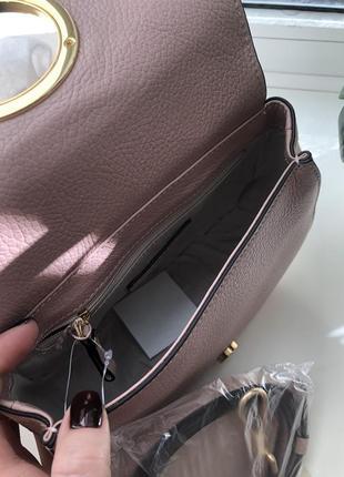 Бежевая сумка coccinelle италия сумочка3 фото