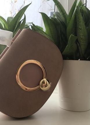Бежевая сумка coccinelle италия сумочка5 фото