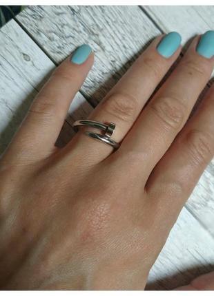 Кольцо - гвоздь. ювелирная гипоаллергенная сталь.