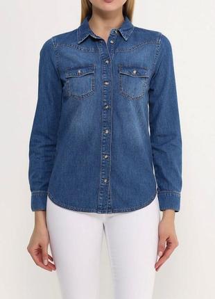 Супер sale !!! джинсовая рубашка top shop