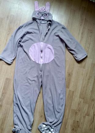 Кигуруми зайчик слип пижама человечек ромпер костюм