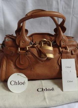 Срочно! кожаная винтажная сумка chloe